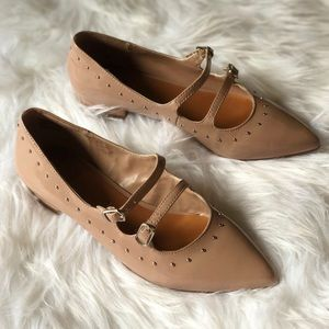 Shoes - 14th And Union nude point toe flat